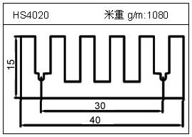 高密齿铝型材HS4020
