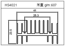 高密齿铝型材HS4021