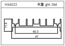 高密齿铝型材HS4022