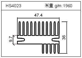 高密齿铝型材HS4023