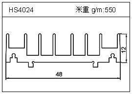 高密齿铝型材HS4024