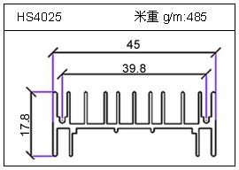 高密齿铝型材HS4025