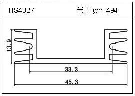 高密齿铝型材HS4027