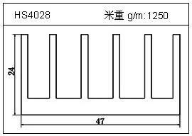 高密齿铝型材HS4028