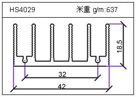 高密齿铝型材HS4029