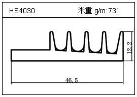 高密齿铝型材HS4030