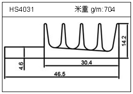 高密齿铝型材HS4031