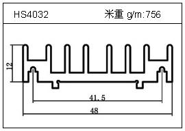 高密齿铝型材HS4032