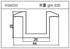 高密齿铝型材HS4033