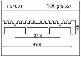 高密齿铝型材HS4034