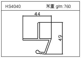 铲片铝型材HS4040