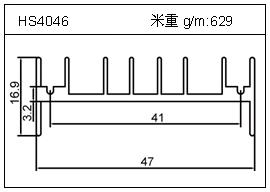 铲片铝型材HS4046