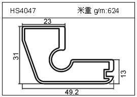 铲片铝型材HS4047