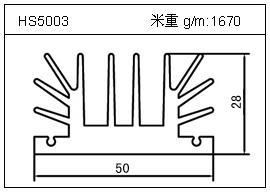 铲片铝型材HS5003