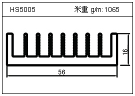 铲片铝型材HS5005