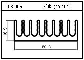 铲片铝型材HS5006