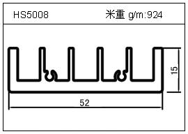 铲片铝型材HS5008