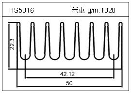冷拔管铝型材HS5016