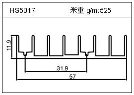 冷拔管铝型材HS5017