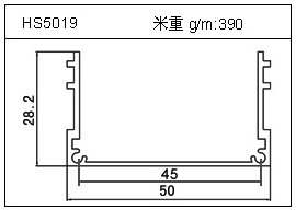 冷拔管铝型材HS5019