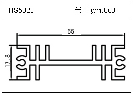 冷拔管铝型材HS5020