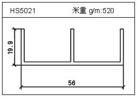冷拔管铝型材HS5021