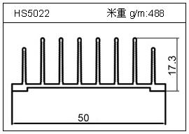 冷拔管铝型材HS5022