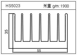 冷拔管铝型材HS5023