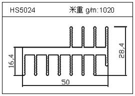 冷拔管铝型材HS5024