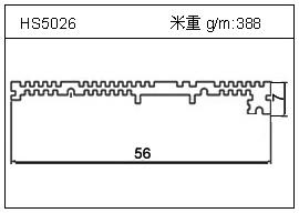 冷拔管铝型材HS5026