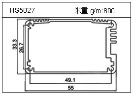 冷拔管铝型材HS5027