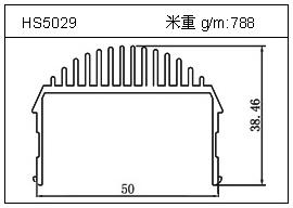 冷拔管铝型材HS5029