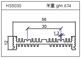 冷拔管铝型材HS5030