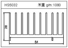 冷拔管铝型材HS5032