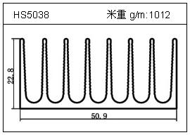 冷拔管铝型材HS5038