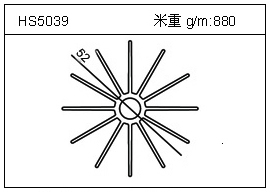太阳花铝型材HS5039