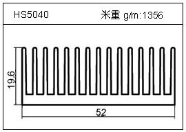 加热器铝型材HS5040