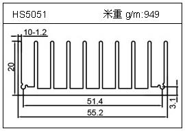 加热器铝型材HS5051