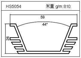加热器铝型材HS5054