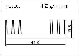 加热器铝型材HS6002