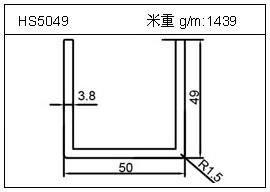 加热器铝型材HS5049