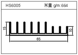 加热器铝型材HS6005