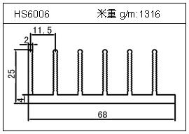 加热器铝型材HS6006