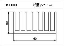 冷凝器铝型材HS6008