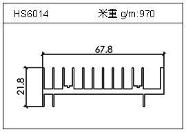 冷凝器铝型材HS6014