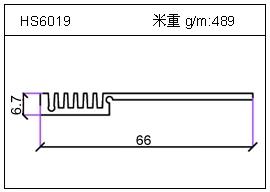 冷凝器铝型材HS6019