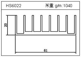 冷凝器铝型材HS6022