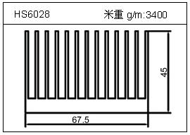 变频器铝型材HS6028