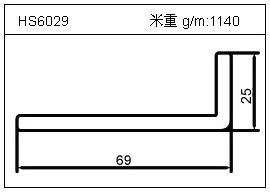 变频器铝型材HS6029