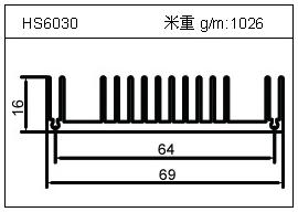 变频器铝型材HS6030
